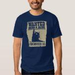 Gato de Schrodinger Procurado Vivo e Morto Camiseta