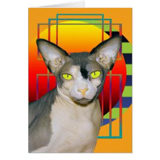 Gato de Sphynx del empeine de la tarjeta el |