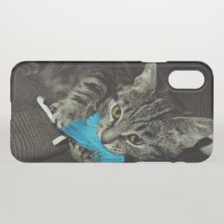 Gato de Tabby con la pluma de Shirley Taylor Funda Para iPhone X