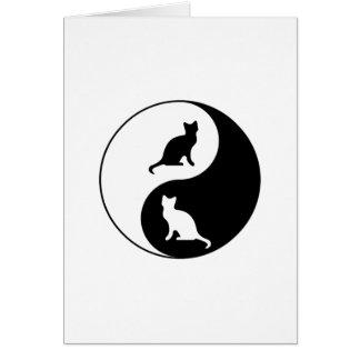 Gato de Yin y de Yang Tarjeta De Felicitación