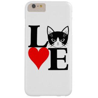 ¡Gato del amor! Funda De iPhone 6 Plus Barely There