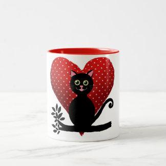 gato del amor taza de café