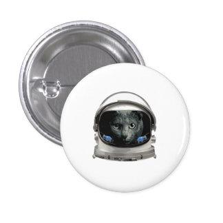 Gato del astronauta del casco de espacio chapa redonda de 2,5 cm