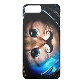 Gato del bigote del astronauta funda para iPhone 8 plus/7 plus