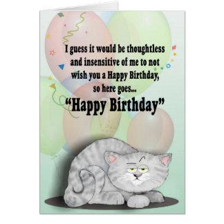 Gato del cumpleaños tarjeta de felicitación
