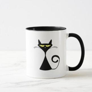 """Gato del dibujo animado de la taza con """"el texto"""