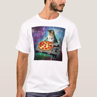 Gato del espacio de DJ que hace girar algún Za Camiseta