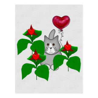 Gato del gatito de la tarjeta del día de San