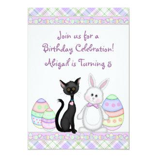 Gato del gatito e invitación del cumpleaños del invitación 12,7 x 17,8 cm