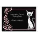 Gato del gatito y chicas del ~ de la invitación de