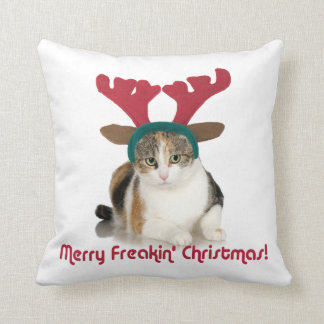 Gato del gatito y Felices Navidad de Freakin de Cojines