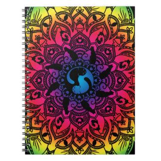 Gato del hippy de la mandala de la alheña del zen cuaderno