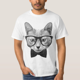 Gato del inconformista del vintage camisetas