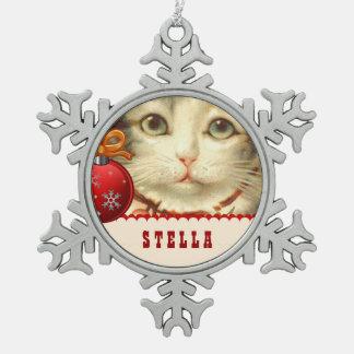Gato del mascota de la foto de GROUPON con el Adorno