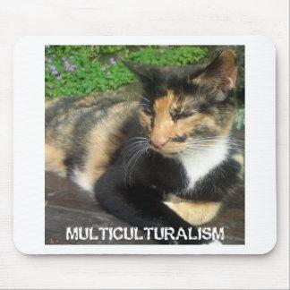 Gato del multiculturalismo alfombrilla de ratón