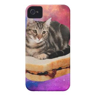 gato del pan - gato del espacio - gatos en espacio funda para iPhone 4