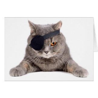Gato del pirata tarjeta de felicitación