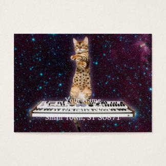 gato del teclado - gatos divertidos - amantes del tarjeta de visita