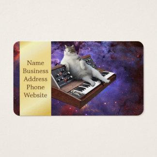 gato del teclado - memes del gato - gato loco tarjeta de visita