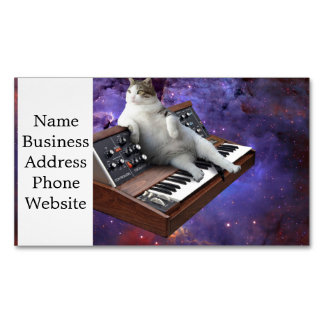 gato del teclado - memes del gato - gato loco tarjeta de visita magnética