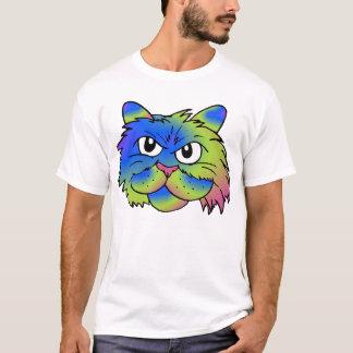 Gato del teñido anudado camiseta