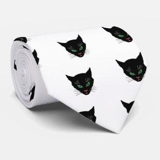 Gato del vintage corbata personalizada