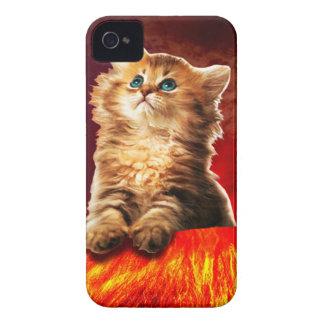 gato del volcán, gato vulcan, carcasa para iPhone 4 de Case-Mate