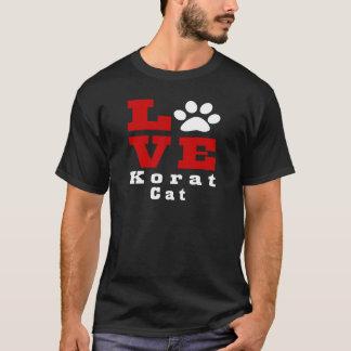 Gato Designes de Korat del amor Camiseta