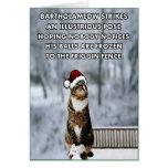 Gato divertido del navidad tarjeta de felicitación