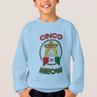 Gato divertido para el día de fiesta del mexicano sudadera
