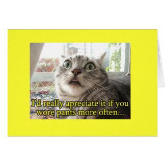 Gato divertido tarjeta de felicitación