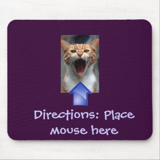 Gato divertido y Mousepad