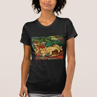 Gato en la estación de tren - Toledo, España Camiseta
