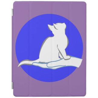 Gato en la mano, círculo azul cover de iPad