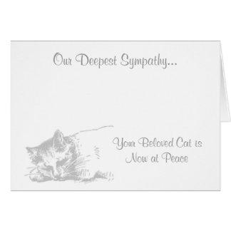 Gato en la tarjeta de condolencia veterinaria de