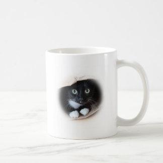 Gato en un bolso taza de café