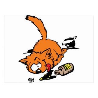 Gato enfermo postal
