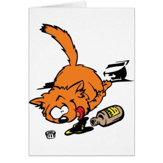 Gato enfermo tarjeta