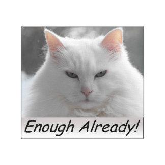 ¡Gato enojado bastantes ya! Lona Envuelta Para Galerias