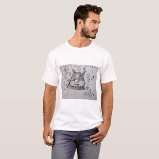 Gato estúpido del dibujo animado camiseta