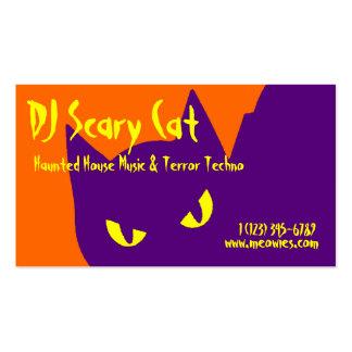 Gato fantasmagórico del gatito de Halloween Plantillas De Tarjetas De Visita