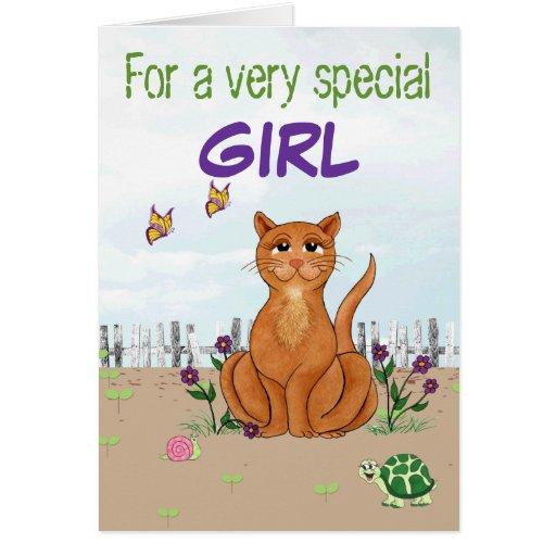 Gato feliz - tarjeta de cumpleaños adaptable