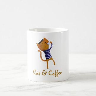 Gato fresco francés taza de café