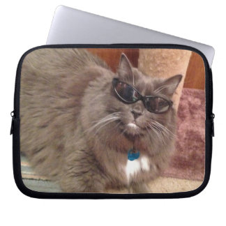 Gato fresco funda para portátil