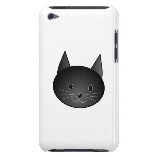 Gato. Gatito negro lindo iPod Case-Mate Carcasa