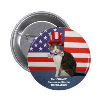 Gato/gatito políticos divertidos chapa redonda 5 cm