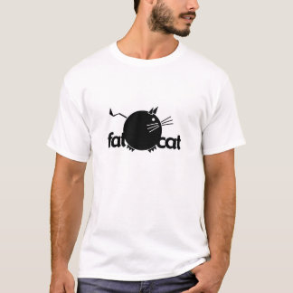 Gato gordo camiseta