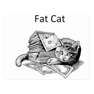 Gato gordo postales