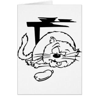 Gato gordo tarjeta