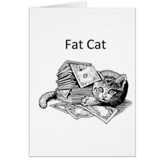 Gato gordo tarjetas
